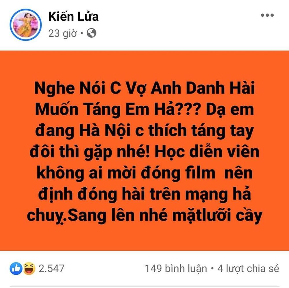 Bị vợ nghệ sĩ Xuân Bắc 'đòi táng nếu gặp', Trang Trần gay gắt mỉa mai nhan sắc và thách táng tay đôi Ảnh 3