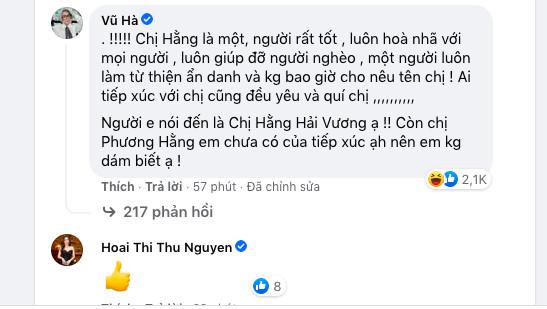 Vũ Hà 'cà khịa', hoa hậu Thu Hoài thể hiện sự đồng tình khi Đàm Vĩnh Hưng 'phản pháo' vợ Dũng 'lò vôi' Ảnh 5