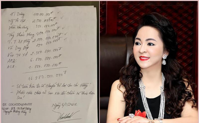 Điều bất thường trong số tiền gần 17 tỷ đồng mà ông Võ Hoàng Yên mới trả bà Phương Hằng, vợ đại gia Dũng lò vôi