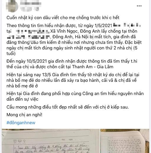 Chị họ mất tích rồi tử vong, những trang nhật ký để lại khiến người hùng Nguyễn Ngọc Mạnh giận dữ: Tại sao lại đối xử với chị tôi như vậy? - Ảnh 1.
