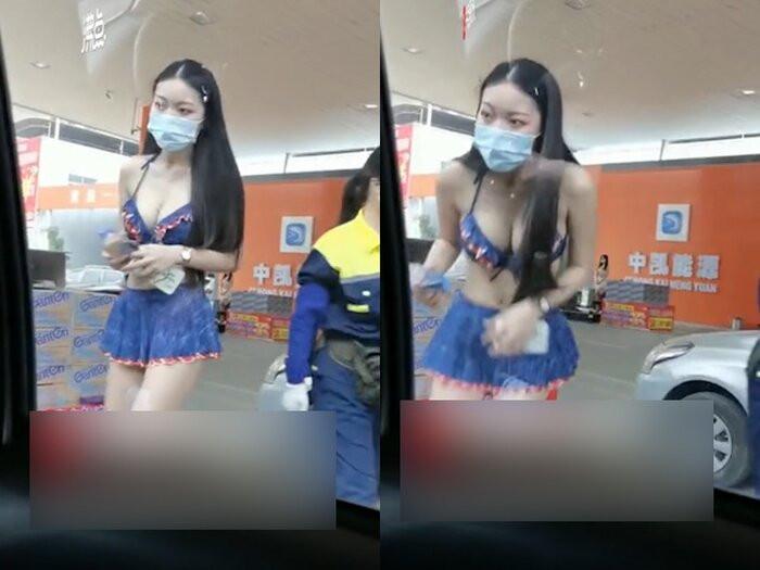 Trạm xăng thuê người mẫu mặc bikini khoe ngực khủng để 'tài xế bớt nhàm chán' gây tranh cãi gay gắt Ảnh 3