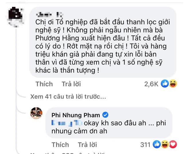 Netizen cà khịa Phi Nhung đã rớt mặt nạ, xin lỗi vì từng xem cô là thần tượng, nữ ca sĩ liền có cách đáp trả khó hiểu - Ảnh 2.