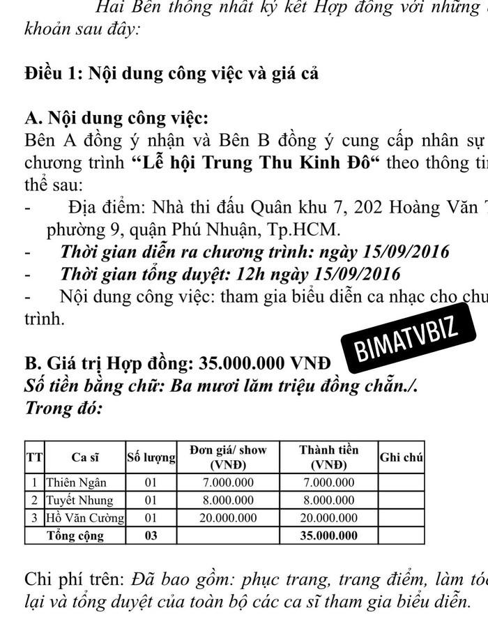 Xôn xao hợp đồng lộ cát-xê của Hồ Văn Cường: Con số thực sự đầy bất ngờ? Ảnh 2