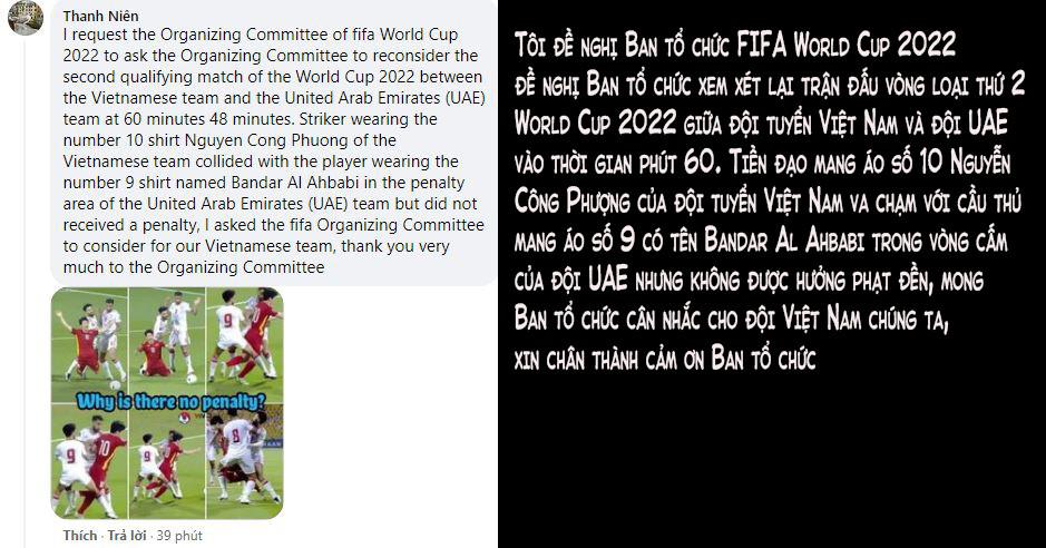 Fan Việt tràn vào Fanpage của FIFA World Cup để đòi công bằng cho Công Phượng - Ảnh 3.