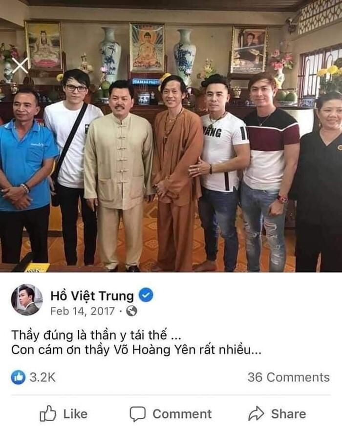 Cư dân mạng tìm được ảnh Hồ Việt Trung chụp cùng và tâng bốc hết lời Võ Hoàng Yên? Ảnh 2