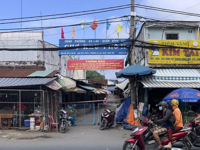 TP.HCM tìm những người từng đến khu chợ ở quận Bình Tân có chuỗi lây nhiễm 43 ca mắc COVID-19