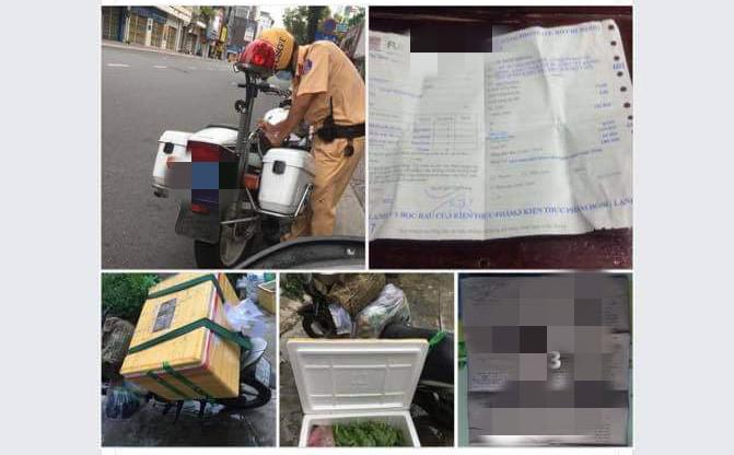 TP.HCM: Trình bày lý do ra nhà xe nhận thực phẩm từ quê, thanh niên bị lập biên bản xử phạt 2 triệu