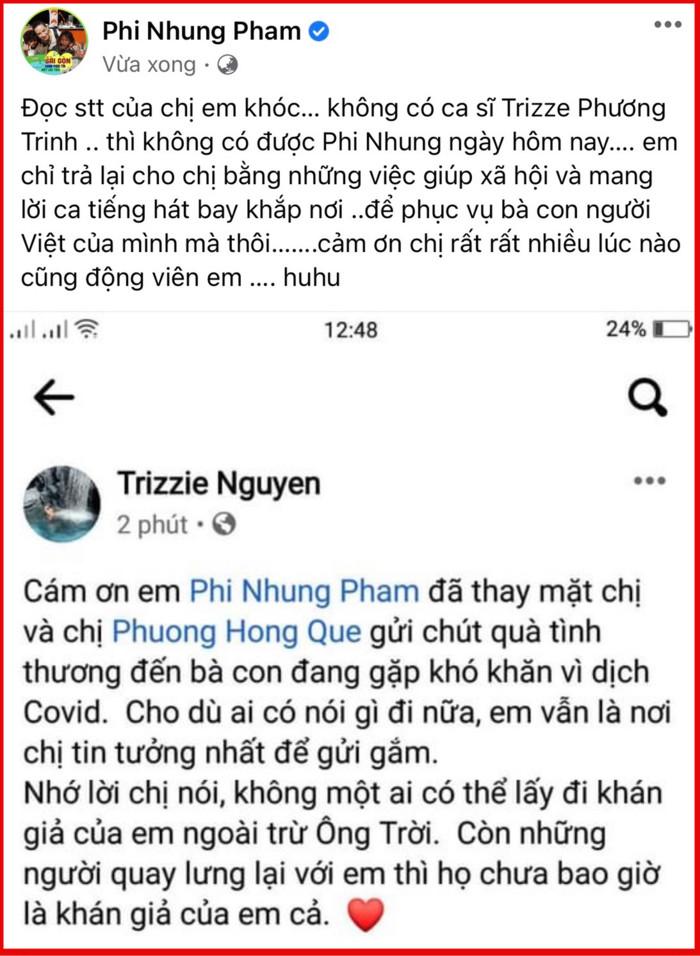 Phi Nhung 'rớt nước mắt' khi nghe lời nhận xét tận đáy lòng của vợ cũ Bằng Kiều