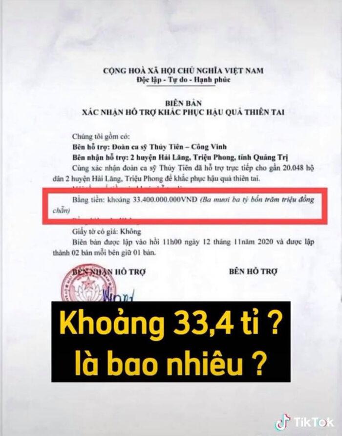 Thủy Tiên tung giấy xác nhận làm từ thiện ở địa phương, netizen soi hàng loạt chi tiết chưa minh bạch? Ảnh 3