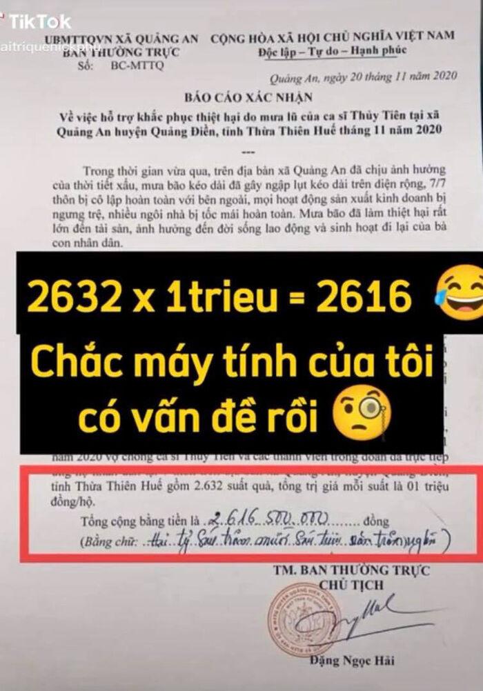 Thủy Tiên tung giấy xác nhận làm từ thiện ở địa phương, netizen soi hàng loạt chi tiết chưa minh bạch? Ảnh 4
