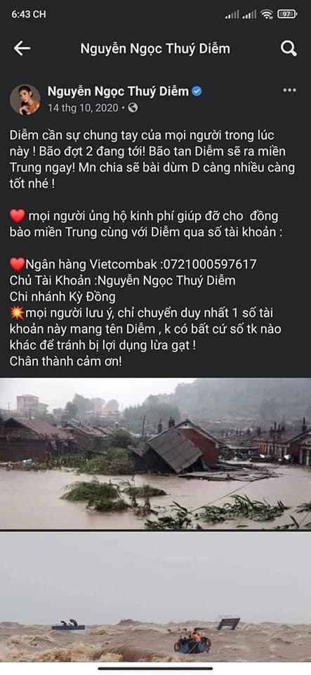 Bị bà Phương Hằng 'réo tên' vào lùm xùm kêu gọi quyên góp, diễn viên Thúy Diễm lên tiếng phản hồi