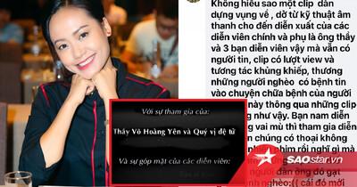 Sự thật phía sau đoạn clip nam diễn viên giả mù hỗ trợ ông Võ Hoàng Yên, bị DV Hồng Ánh chỉ trích