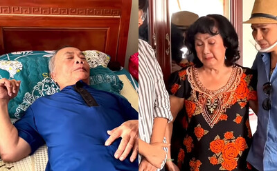 NS Thanh Tú liệt giường 13 năm vì bệnh nhũn não, vợ bật khóc: Chồng mà đi được, tôi ăn chay luôn