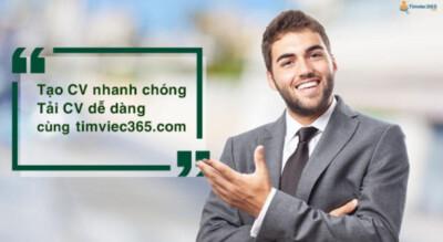 Tạo CV xin việc tiếng Anh và tìm việc làm bảo hiểm tại timviec365.com