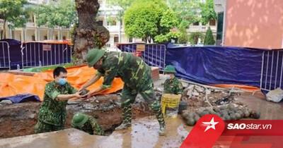 Bất ngờ phát hiện 400 quả bom bi trong khuôn viên UBND TP Hải Dương
