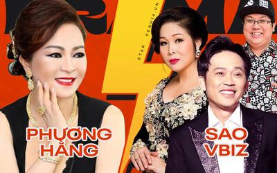 Drama Phương Hằng và dàn Vbiz: Mỗi ngày đều réo tên Hoài Linh, đòi kiện Hồng Vân, showbiz dậy sóng