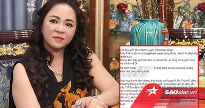 Huỳnh Ngọc Thiên Hương muốn 'hẹn hò' với bà Phương Hằng, hứa 'không làm điều gì tổn hại'?