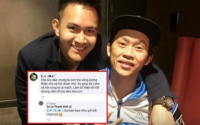 Bố bị antifan tố lừa đảo, con trai Hoài Linh đáp trả cực căng: 'Lừa bạn bao nhiêu gửi bill tôi trả'