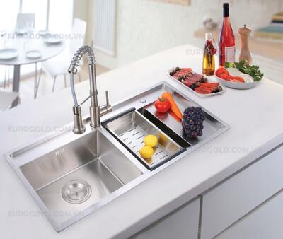 Nâng cấp gian bếp với chậu rửa bát cao cấp EuroGold