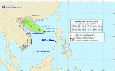 Xuất hiện vùng áp thấp giữa Biển Đông, có khả năng mạnh thêm