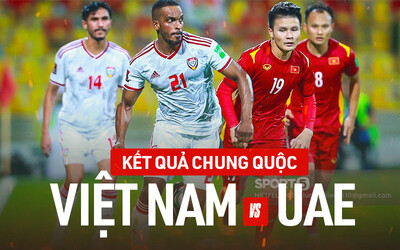 Kết quả chung cuộc Việt Nam 2 - 3 UAE nhưng vẫn làm nên lịch sử, lần đầu tiên vào vòng loại thứ 3 World Cup 2022!