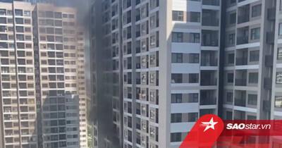 Hà Nội: Cháy ở Vinhomes Ocean Park giữa thời tiết nắng nóng gay gắt