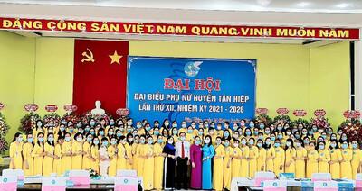 Kiên Giang: Đại hội điểm đại biểu Phụ nữ huyện Tân Hiệp lần thứ XII, nhiệm kỳ 2021 - 2026