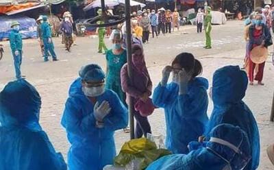 Nghệ An: Thêm một phụ nữ bán rau ở chợ đầu mối dương tính với SARS-CoV-2