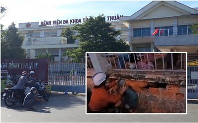 500 bệnh nhân và người nhà chui lỗ, vượt rào trốn khỏi Bệnh viện đa khoa tỉnh Bình Thuận