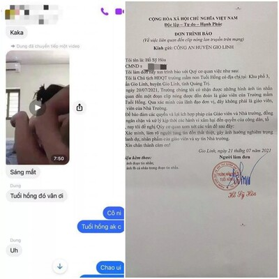 Công an vào cuộc làm rõ đoạn clip 'nóng' được cho là của giáo viên một trường mầm non ở Quảng Trị