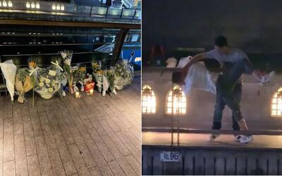 Xúc động những nhành hoa trắng đặt tại nơi nam thanh niên người Việt bị hành hung, đạp xuống sông tử vong ở Nhật Bản