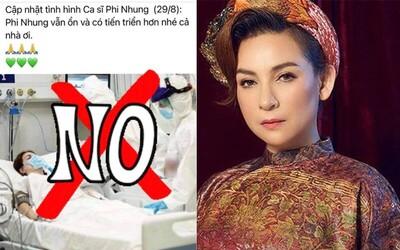 Lan truyền hình ảnh Phi Nhung nằm viện điều trị Covid-19, phía nữ ca sĩ lên tiếng, đồng thời báo tin vui