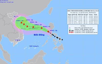 Bão Conson giật cấp 11 đi vào Biển Đông, cường độ rất mạnh, diễn biến khó lường