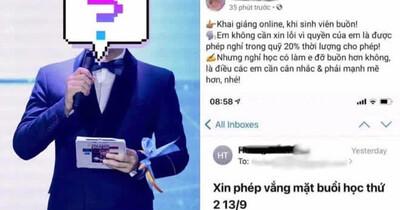 Sinh viên xin vắng học vì nhà có người mất, giảng viên kiêm MC VTV đăng lên Facebook mỉa mai