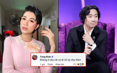 """Facebook Trang Khàn có tick xanh vào bài viết của Trấn Thành """"cà khịa"""" 1 câu sốc, chuyện gì đây?"""