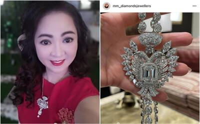 Bà trùm Đại Nam bất ngờ bị tố đeo dây chuyền kim cương fake, còn 'chôm' ảnh của người ta: Rốt cuộc chuyện này là sao?
