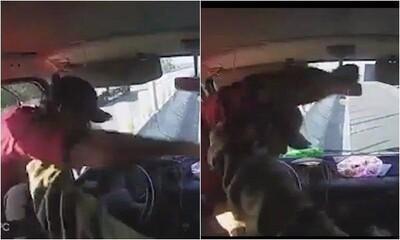 Clip: Phụ xe khách lao qua cửa kính, dùng vật nhọn đâm túi bụi vào người tài xế ô tô tải