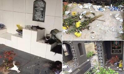 Công an Hải Phòng truy tìm đối tượng phá hoại hơn 100 ngôi mộ