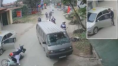 Clip: Tài xế taxi mở cửa xe gây tai nạn, thái độ sau đó của anh ta còn đáng phẫn nộ hơn