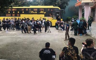 Chặn chiếc xe khách Bắc Nam phát hiện có 53 người Trung Quốc nhập cảnh trái phép