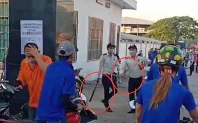 Nam công nhân bị nhóm bảo vệ công ty ở Bình Dương đánh dã man