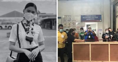 Chuyến bay cuối của Á hậu Philippines: Thi hài nằm lạnh lẽo trong quan tài được đưa về quê nhà, người thân khóc hết nước mắt tại tang lễ riêng tư