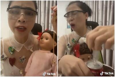 YouTuber Thơ Nguyễn bị chỉ trích vì clip nói chuyện, cho búp bê uống coca để xin vía học giỏi cho các bạn nhỏ