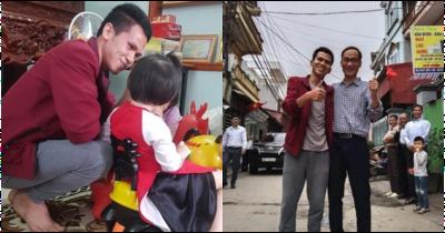 Rưng rưng khoảnh khắc bé gái rơi lầu 12 lần đầu gặp mặt anh Nguyễn Ngọc Mạnh: 'Con chào bố Mạnh, con cảm ơn bố'