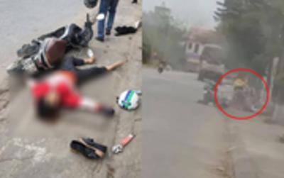 Clip: Kinh hoàng khoảnh khắc người phụ nữ bị truy sát tử vong trên đường, cha tức tốc chạy đến nhưng không kịp cứu con