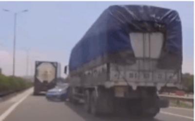 Cái kết đắng lòng cho tài xế Kia Morning khi 'loi choi'... tạt đầu xe tải