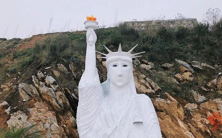 Bức tượng Nữ thần Tự do 'phiên bản đột biến' ở Sa Pa gây xôn xao, cơ quan chức năng nói gì?