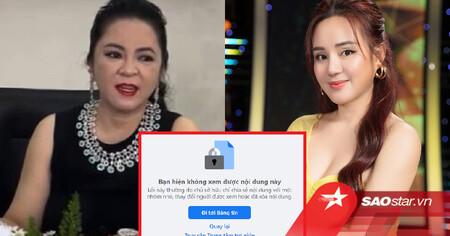 Sau khi chỉ trích vợ ông Dũng 'lò vôi', Facebook Vy Oanh bỗng dưng 'bay màu' khỏi 'cõi mạng'