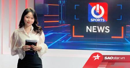 Huỳnh Anh trở thành BTV thể thao, fan réo tên Quang Hải