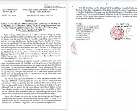 Nghệ An: Phó Chủ tịch UBND tỉnh Kết luận việc triển khai Dự án Công viên sinh thái Vĩnh Hằng